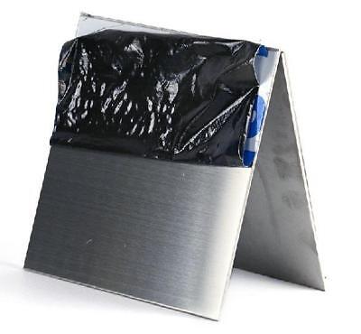 100mm 2pcs 7075 Aluminum Al Alloy Shiny Polished Plate Sheet 1mm 100mm