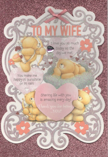 To My Wife Birthday Card Large