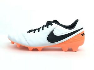 sports shoes ae929 f6d5e Details about Nike Tiempo Mystic V FG Soccer Cleat Shoes White Orange Total  Blac 11 819236-108
