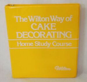 Vintage 1980 The Wilton Way of Cake Decorating Home Study ...