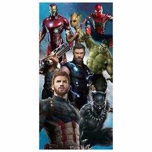 Marvel Avengers Infinity Beach Towel 100 Cotton Kids 140cm X 70cm 5057883001469 Ebay