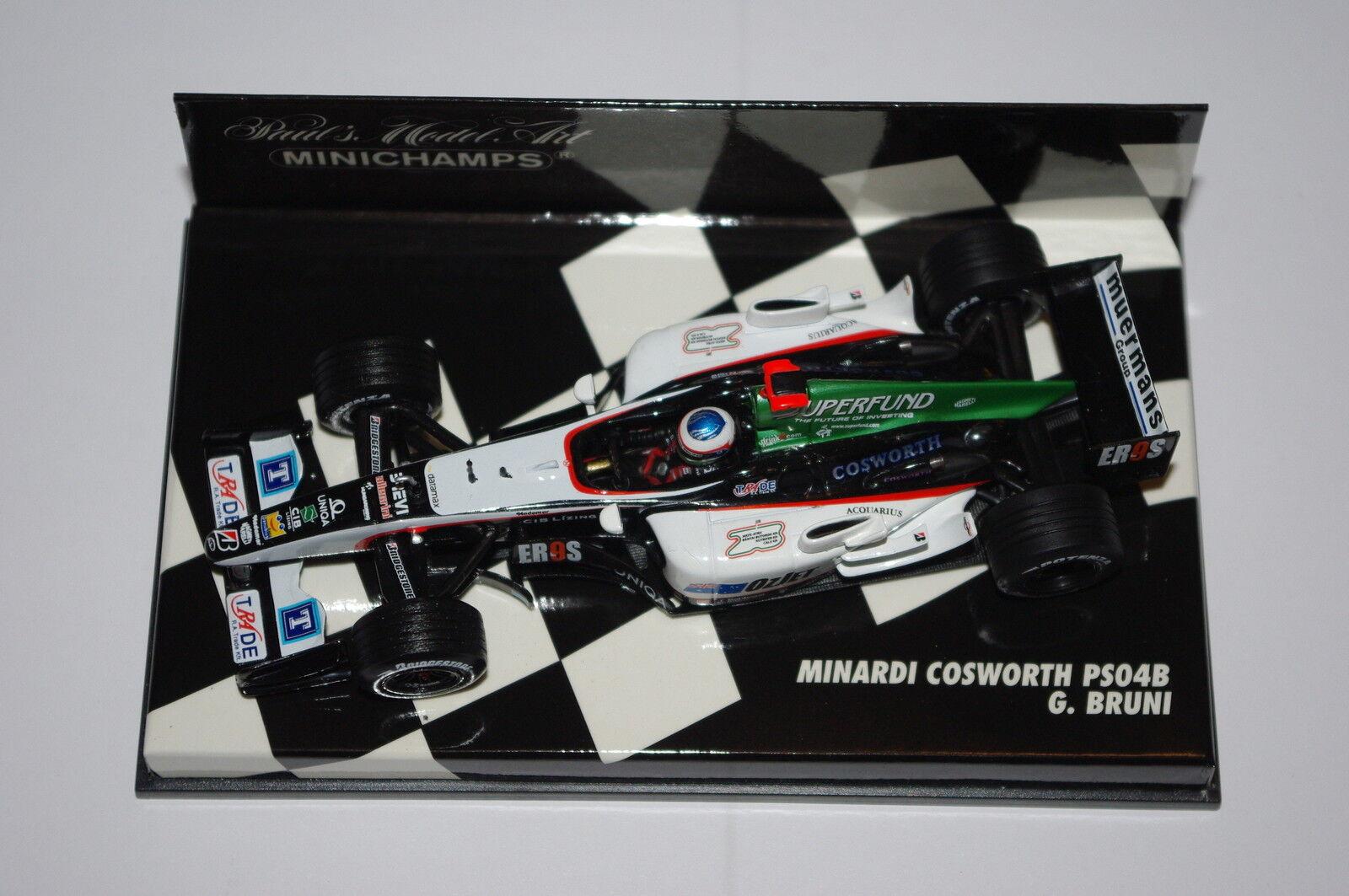 Minichamps F1 1 43 MINARDI COSWORTH PS04B G. BRUNI