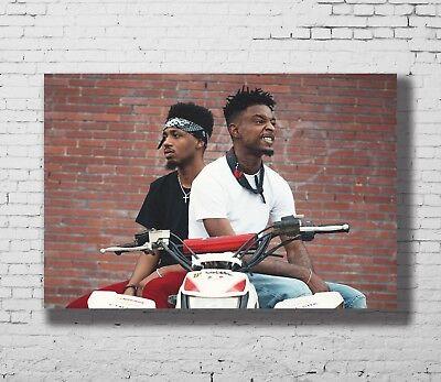 P-07 Art 21 Savage Rap Rapper Hip Hop Music Star Singer Top LW-Canvas Poster 36
