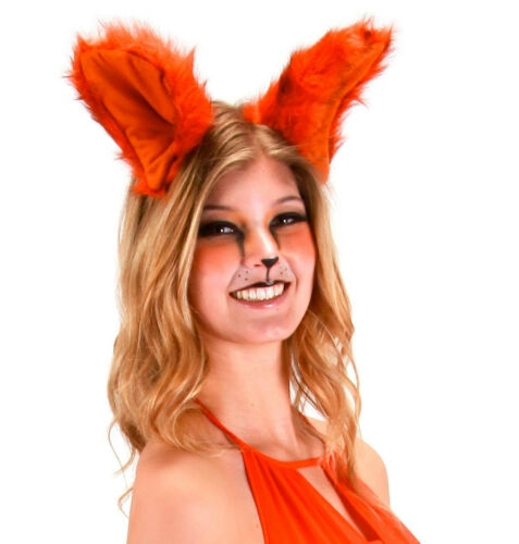 DELUXE OVERSIZED BIG LARGE BROWN RED ADULT FOX FOXY ANIMAL COSTUME EARS JUMBO