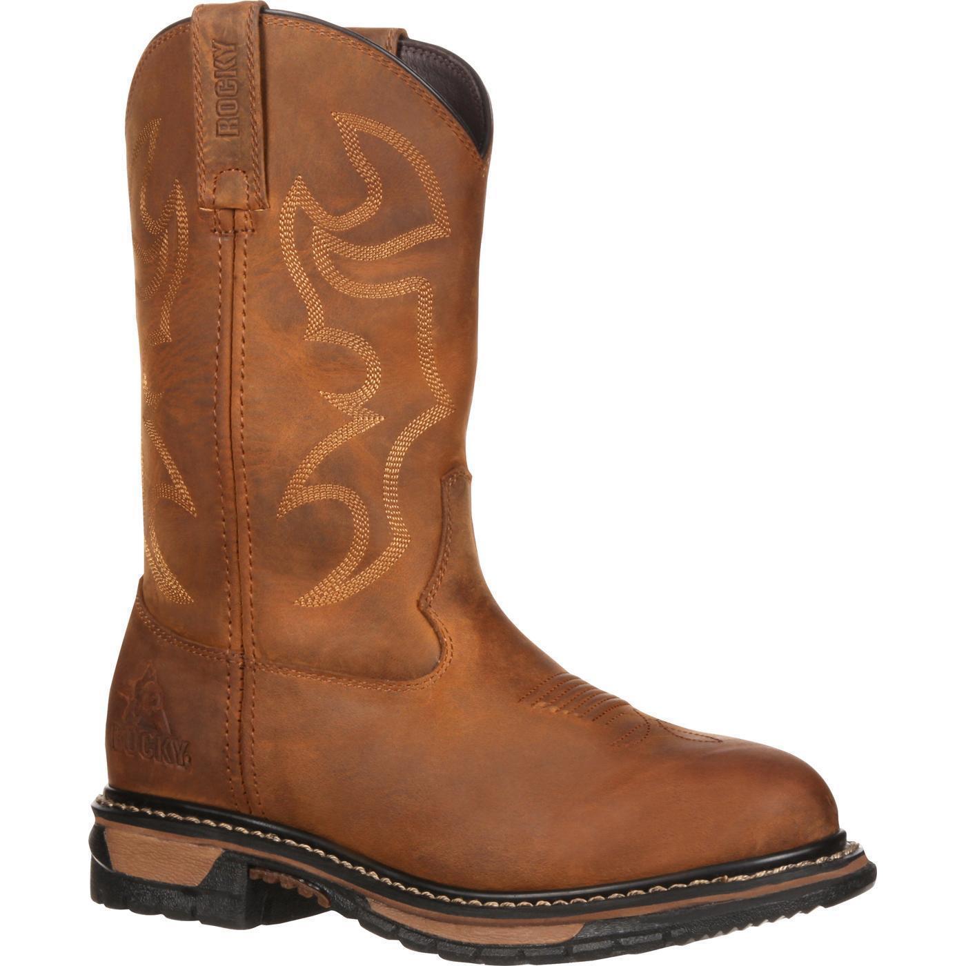 Rocky RKYW082 Women Original Ride 10  Waterproof Pull On Round Toe Western Boots