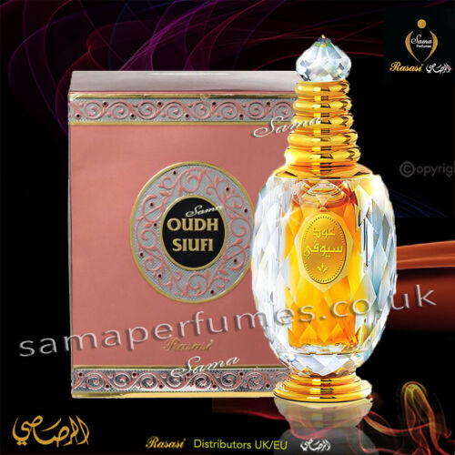 Oudh Al Suifi Uni ATTAR LUXURY RANGE 3ml RASASI Authorised Distr UK & EU