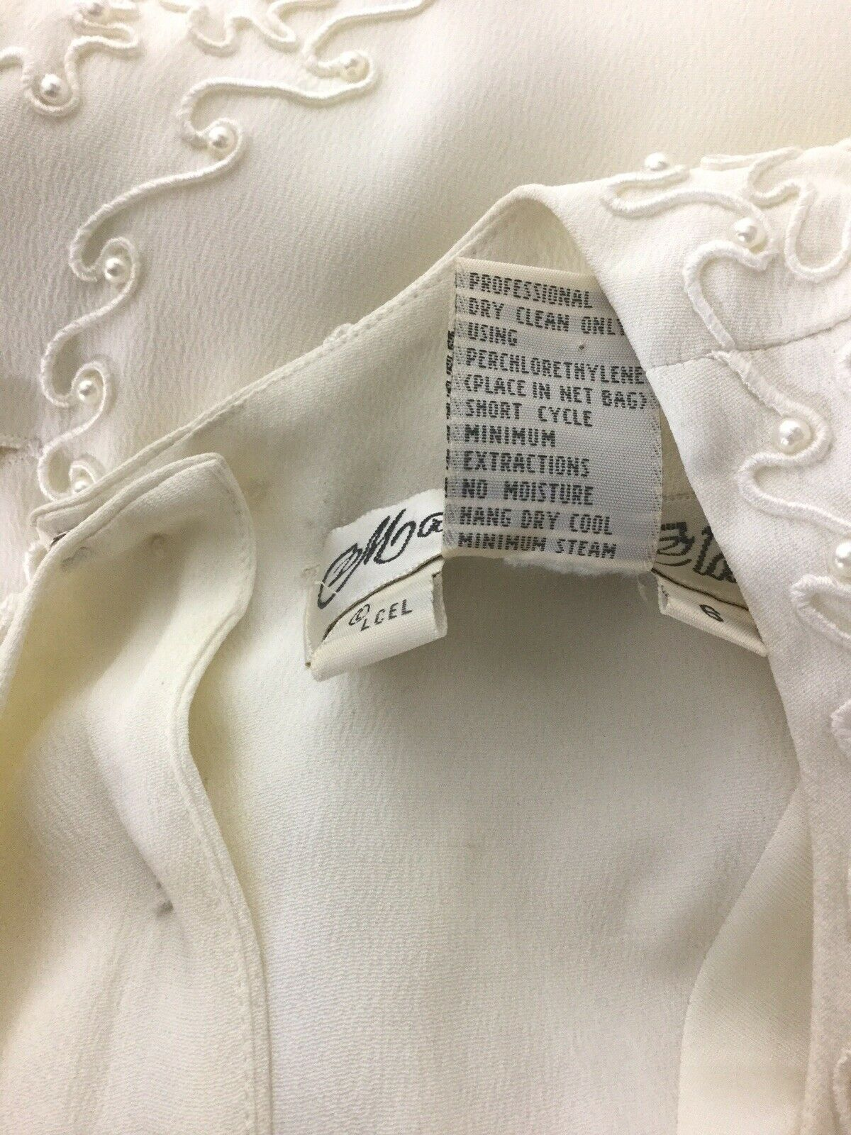 Marie St Claire dress blouse Vintage Sz 6 Pearl B… - image 5