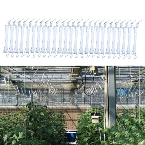 25x 10M Garden Tomato Hook Vegetable Clamps For Garden Farms Planting Tomato