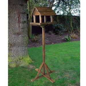 Premium Wooden Bird Table Portable Feeding Station Deluxe