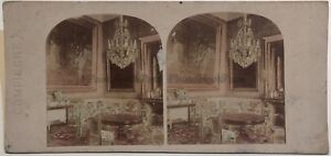 Palais Imperial Da Compiegne Salon Foto Stereo Vintage Albumina Ca 1860