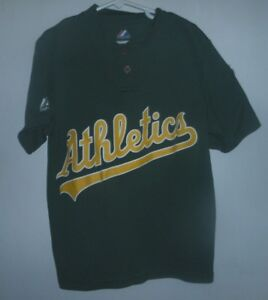 737d3aa0 MAJESTIC COOL BASE MLB OAKLAND ATHLETICS YOUTH 2-button T-SHIRT SIZE ...