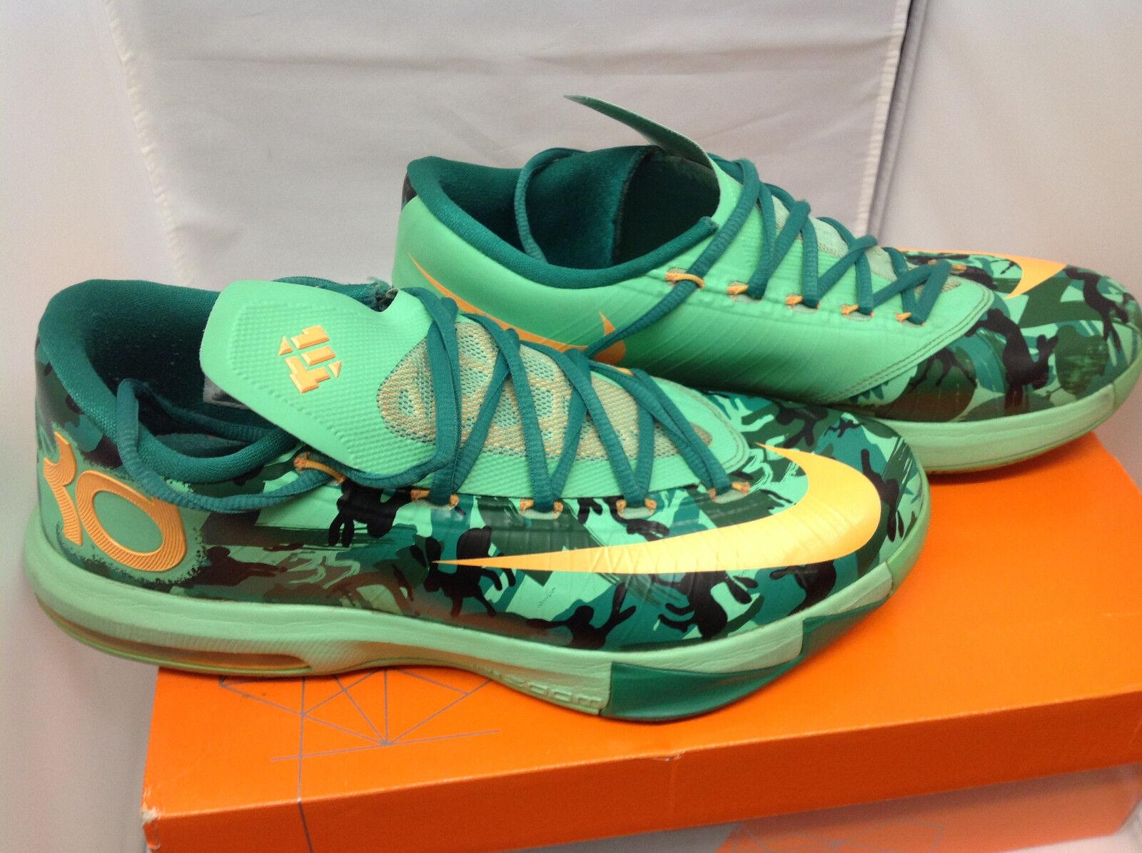 Nike kd vi 6 pasqua lucida verde 599424 303 taglia 10 uomini w / scatola originale