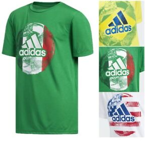 93f2355feb Adidas Boy's Kids NEW World Cup Soccer T-Shirt Crew Neck Regular Fit ...
