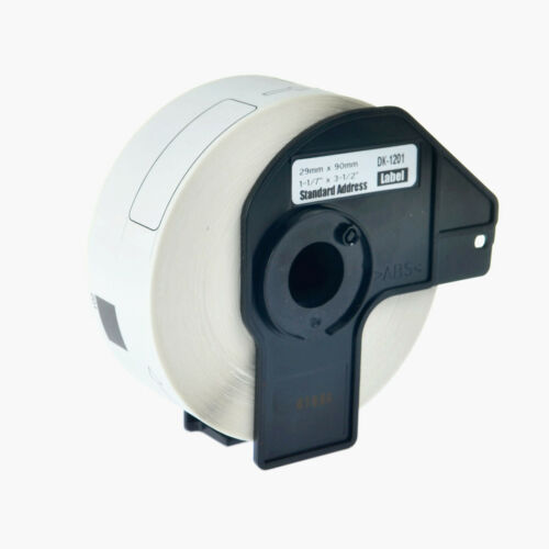 6Roll DK-1201 DK1201 White Shipping Labels For Brother QL-1100 1110NWB 500A 650
