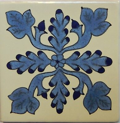 Mexican Tile Talavera Tiles High-Quality Hand Painted Flowers Tile T-26