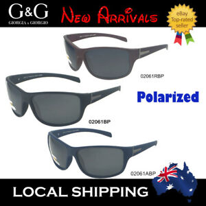 Sunglasses Men/'s Wrap-around Biker Driving  Polarized  Matt Blk UV400 Aus Seller