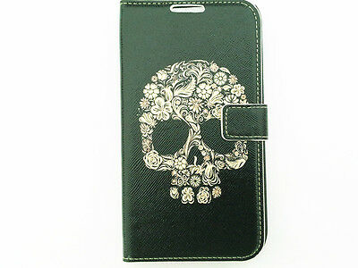Illustration Painting PU Leather Wallet Flip Case Cover Stand For iPhone Samsung