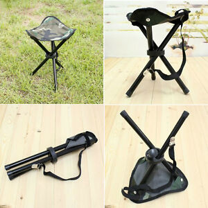65352ef26dcd Details about Outdoor Hiking Camping Travel Fishing Portable Folding Chair  3 Legs Tripod Stool