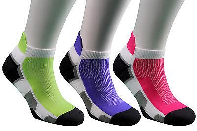GemäßIgt Samson® Running Socks Athletic Gym Fitness Sport Green Purple Pink Mens Ladies