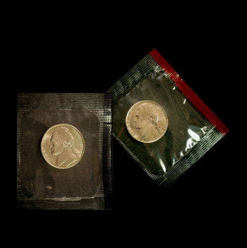 1999 P+D Jefferson Nickel Set of Uncirculated Coins in the Original Mint Cello