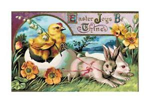 EASTER-JOYS-BE-THINE-Chick-Vintage-DIGITAL-Counted-Cross-Stitch-Pattern-Chart
