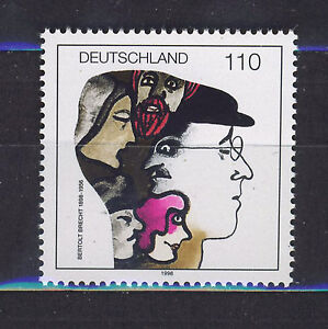 ALEMANIA-RFA-WEST-GERMANY-1998-MNH-SC-1990-Beetolt-Brecht-playwright