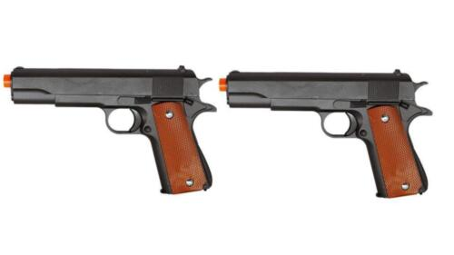LOT 2 1:1 Full Metal Airsoft Pistol Handgun Spring Gun G13