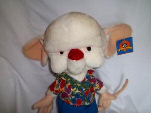 1997 Warner Bros Large 23 Plush Pinky The Brain W Tag Stuffed