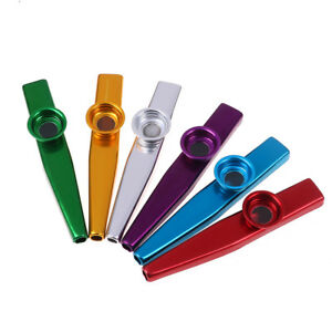 Kazoo-aluminum-alloy-metal-with-5pcs-flute-diaphragm-for-children-music-lovers-lt