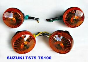 Suzuki TS50 TS75 TS100 TS125 TS185 TS250 TS400 Signal Lens New 4 pcs