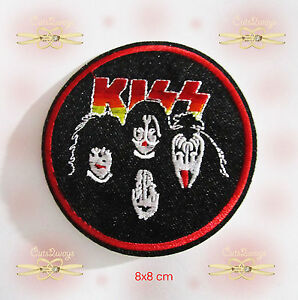 1-Kiss-Rock-N-Roll-Era-Sew-Iron-on-Patch-Embroidered-Badge-Applique-Rock-Biker