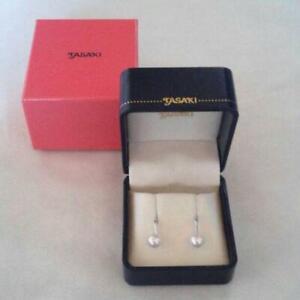 TASAKI-Authentic-about-7-25mm-Pearl-Earrings-New-Unused-Japan