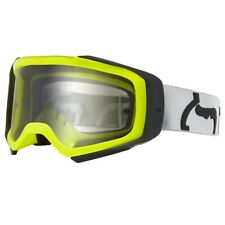 New Fox Racing Airspc Air Space Goggle Divizion Yellow Blue Clear Lens MX ATV