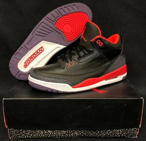 f283442170bf82 VNDS Nike Air Jordan Retro 3 Crimson sz 12 Black White Cement Tinker ...