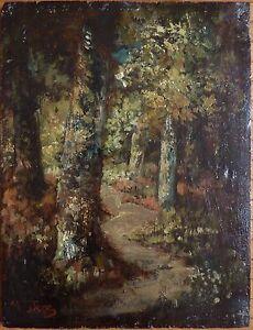 Peinture-ecole-de-Barbizon-signee-Narcisse-DIAZ-De-La-PENA-1807-1876