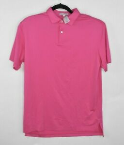 NEW-PETER-MILLAR-Tour-Fit-Featherweight-Polo-Shirt-Pink-Size-M-MS18EK200STO