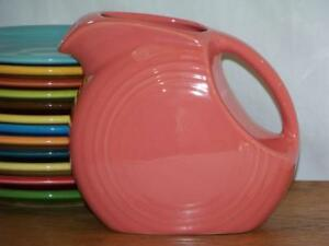 Fiesta-FLAMINGO-Post-86-Small-JUICE-DISK-Pitcher-Discontinued-Item-amp-Color