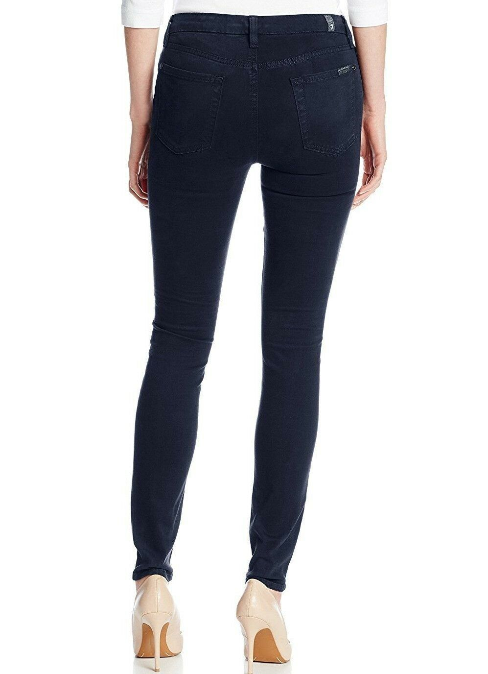 Nwt 7 für Alle Sz25 die Eng Anliegende Midrise Jeans Stretch Gebürstet