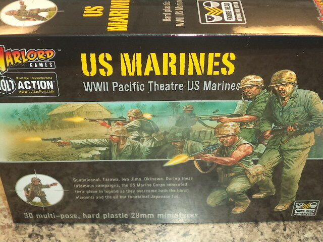 US Marines Marines Marines American Army Bolt Action WWII Warlord Games 1 56 Model New 165d37