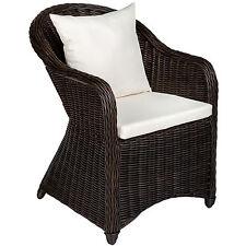 Aluminium chaise de jardin salon fauteuil siège en style osier rotin 2 coussins