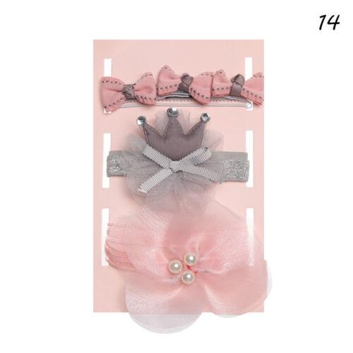 Box Elastisch Weich Baby Girl Kopfband Flower Bows Haarband Haarband Krone