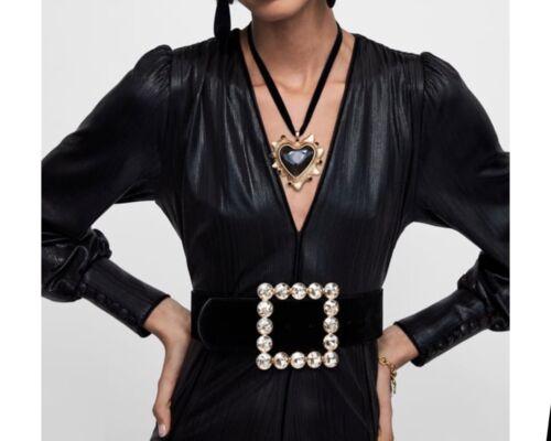 NWT $119 ZARA AW18 STUDIO MAXI BLACK LONG SPARKLY DRESS/_S M L