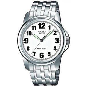 Casio-Uhr-MTP-1260PD-7B-Herren-Armbanduhr-Edelstahl-Silber-Weiss-watch-NEU-amp-OVP