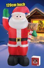 Aufblasbarer Nikolaus Weihnachtsmann, Höhe ca. 120cm - Innen Außen Dekoration