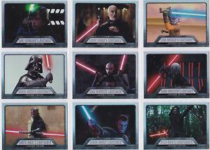 2016 Star Wars Evolution SHIPS /& VEHICLES Complete Set of 18 Cards EV-1 to EV-18