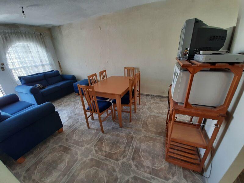 Casa de un nivel con 2 habitaciones y sala de tv en Los Encinos Huejotzingo Puebla