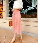 femme filles Tutu Jupon long jupe rockabilly tulle gothique Ballet jupe