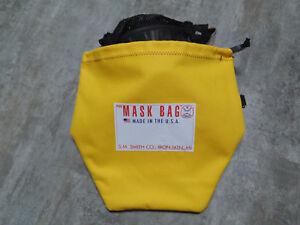 S.M. Smith Co. SCBA Mask Bag, MB3-303,10 OZ Cotton Canvas W/ Fleece liner,Draw.