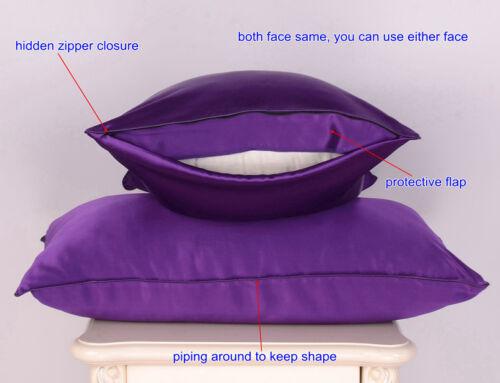 22 Momme 100/% Seide Kissenbezug Kissenbezüge Bezug Sisters-Silk 1 tlg
