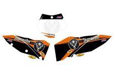 KTM GRAFICHE STICKERS TABELLE JAGERMEISTER EXC 08/11 SX 07/10 CRYSTAL